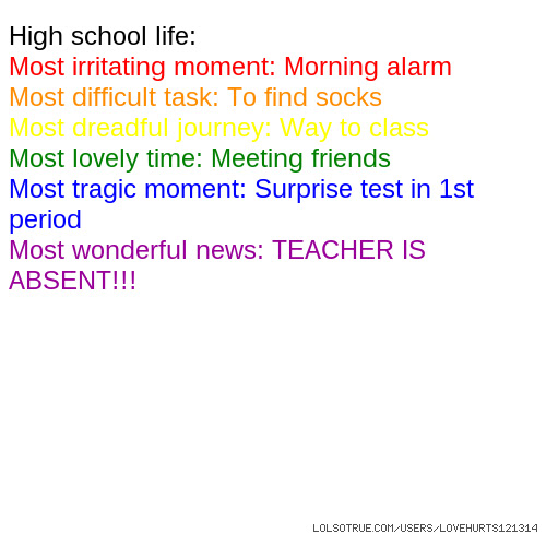 High School Life Quotes Funny High School Life Quotes Facebook