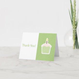 Cupcake Thank You Card zazzle_card