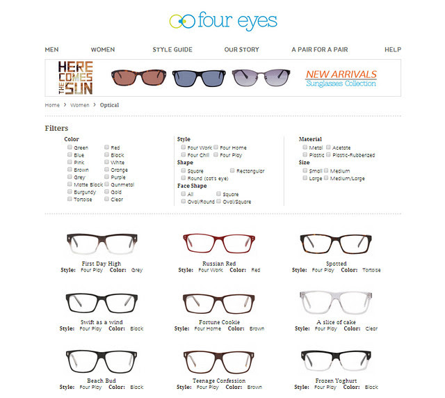 Four Eyes Website Women