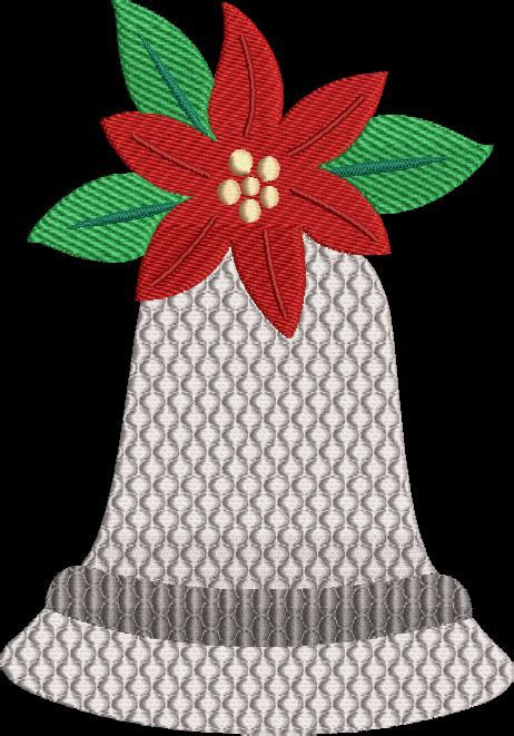 Bells Machine Embroidery Design Christmas