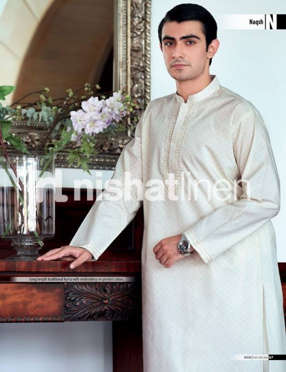 Naqsh-by-Nishat-Linen-Mens-Male-Wear-Kurta-Pajama-Shalwar-Kameez-Eid-Collection-2013-6