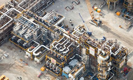 tar sands plant processing plant in Fort McMurray, Alberta, Canada