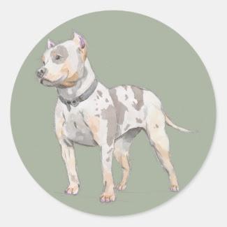 Watercolor Pit Bull