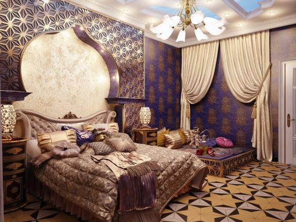 Bedroom Interior Design in Arabian Style | InteriorHolic.