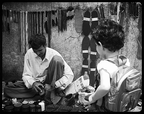 Says Marziya Cobbler Cobbler Mend My Shoes ..Through A Blog You Will Be In The News by firoze shakir photographerno1