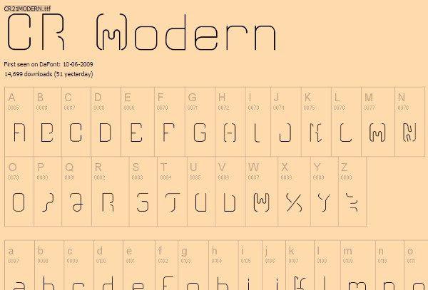 CR Modern Free Font 12 Tipografías elegantes y gratuitas – Cuarta entrega