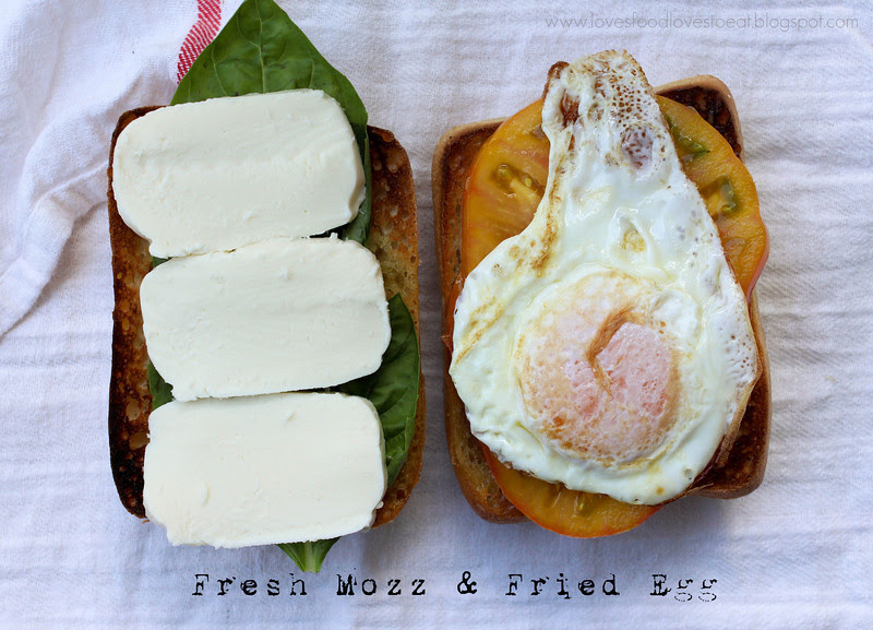 Loves Food, Loves to Eat: Fried Egg Caprese Sandwich