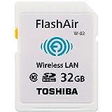 東芝 TOSHIBA 無線LAN搭載 FlashAir Wi-Fi SDHCカード Class10 日本製 並行輸入品 (32GB)