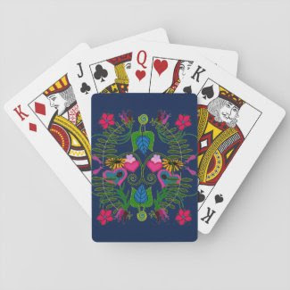 Botanical Art on Playing Cards