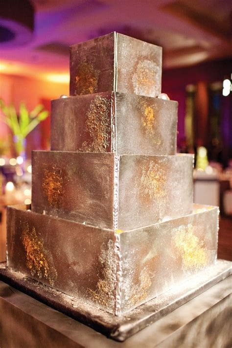 Wedding cake that looks like welded metal! /robertumbower
