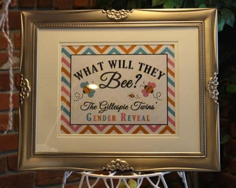 """""""What Will They Bee?"""" Twins Gender Reveal Cake   Rose Bakes"""