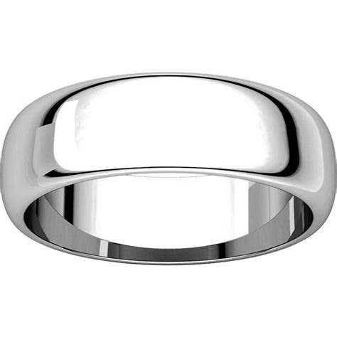 H116826WE 18K His and Hers Plain 6mm Wedding Band White Gold