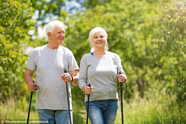 Public Health England says adults of all ages should do more strength training ¿ such as walking with poles ¿ to reduce their risk of falls in old age