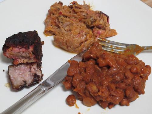 Pork Belly, Pulled Pork, and Baked Beans