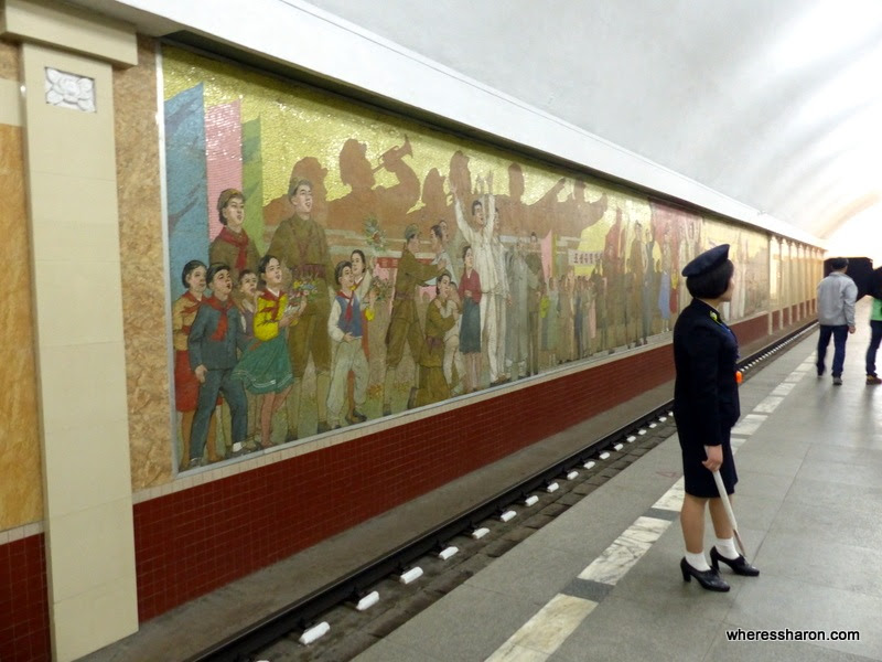 Inside the Pyongyang metro