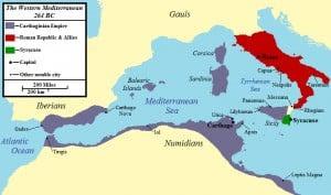 The Western Mediterranean 264 BCE (Jon Platek)