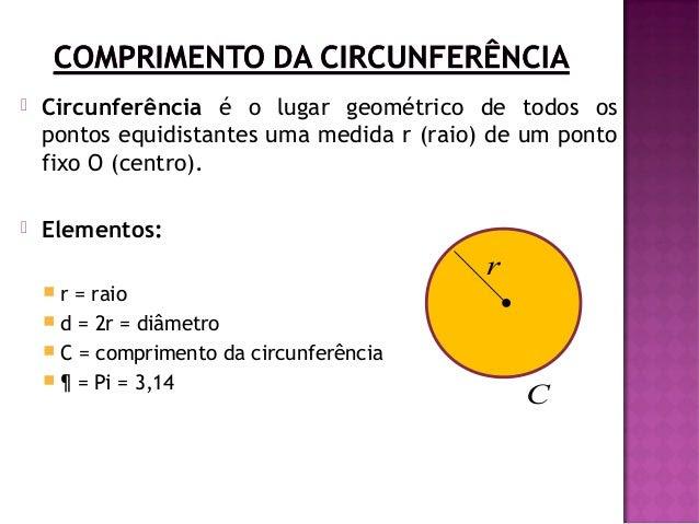 Resultado de imagem para comprimento circunferencia