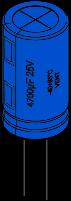 Exemple d'un condensateur électrochimique