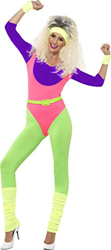 Smiffy's Women's 80's Work Out Costume,