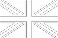 Bandera De Inglaterra Para Colorear Sketch Coloring Page