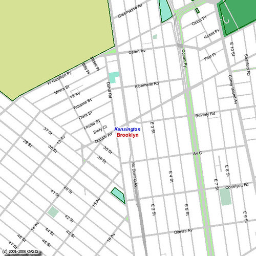 Default OASIS Neighborhood Map for Kensington, Brooklyn