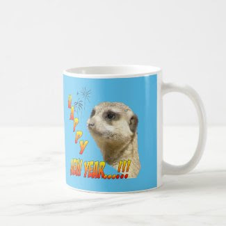 Happy New Year Mug Meerkat
