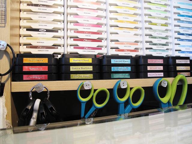 distress ink labels shelf