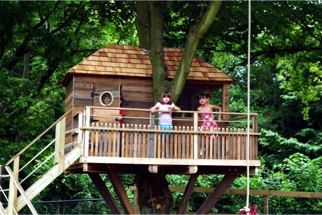 a tree house for children in garden construction useful tips and ideas 0 154