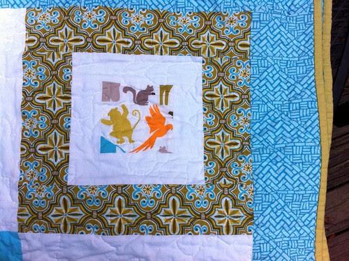 Central park boy quilt: Finished.