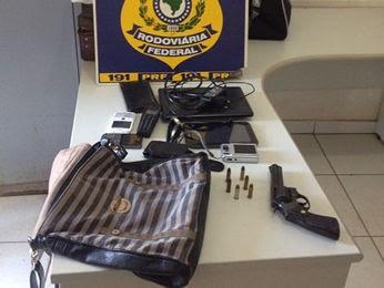 Material roubado é apreendido pela PRF (Foto: Divulgação/PRF)