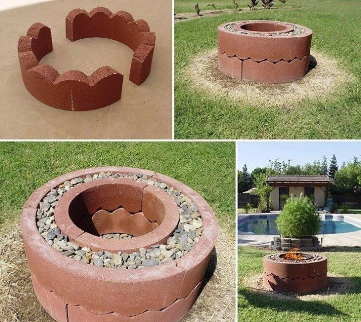 Simple backyard fire pit ideas australia
