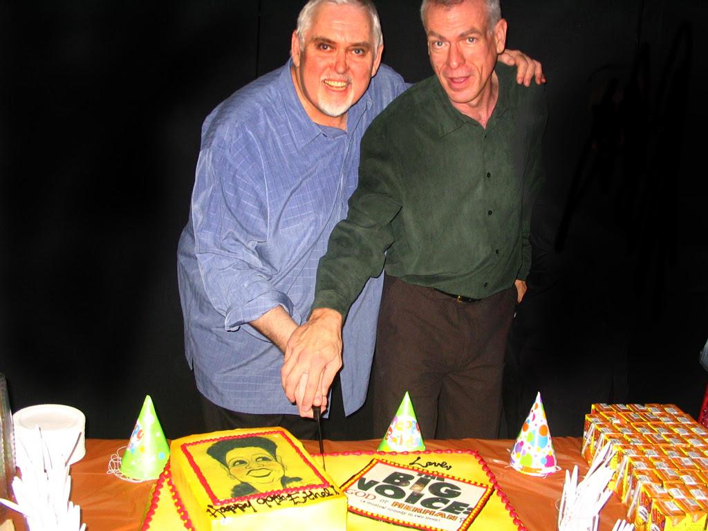 Jim Brochu & Steve Schalchlin cut the birthday cake