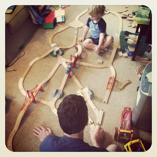 Trains with Daddy...