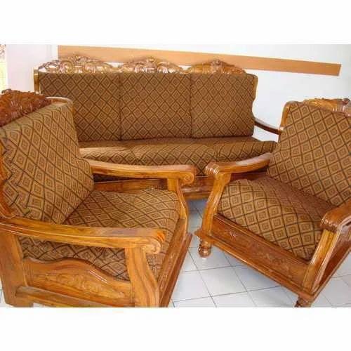 Modular Furnitures - Teak Wood Sofa With Cover ...