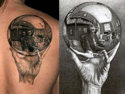 Escher - Reflexões - Mão com Esfera Refletora