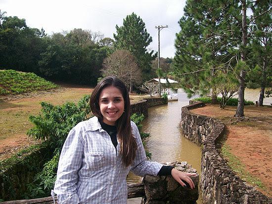 A estudante de medicina Paula Sibov, 24, durante a viagem ao Peru