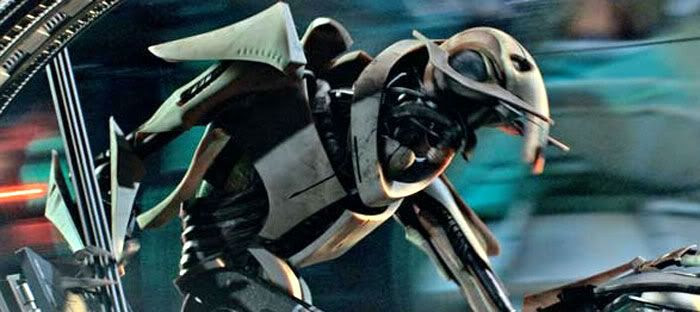 General Grievous on his wheel bike.