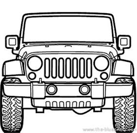 Sketsa Mobil Offroad