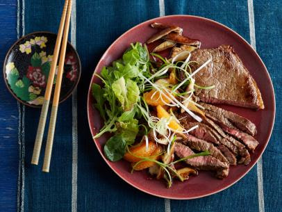 Sichuan Peppercorn Steak with Grilled Green Onions ...