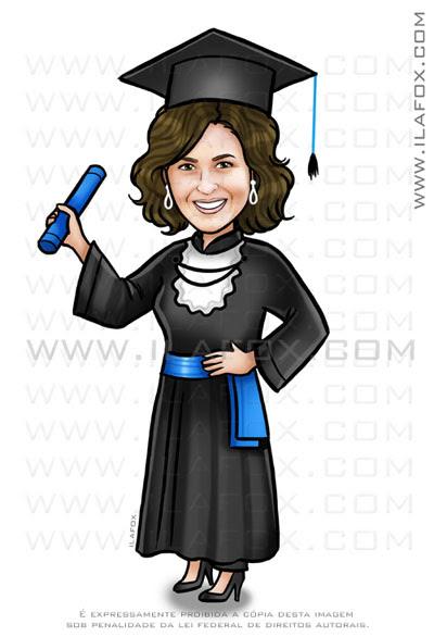 caricatura formanda, caricatura formatura, ciências contábeis, by ila fox
