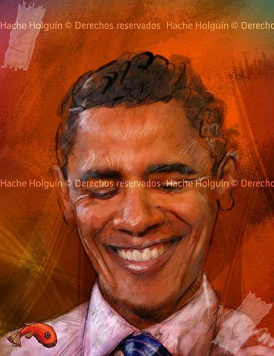 Retrato de Barack Obama