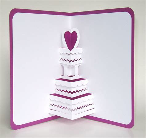Wedding Cake 3D Pop Up Greeting Card Anniversary Cake by