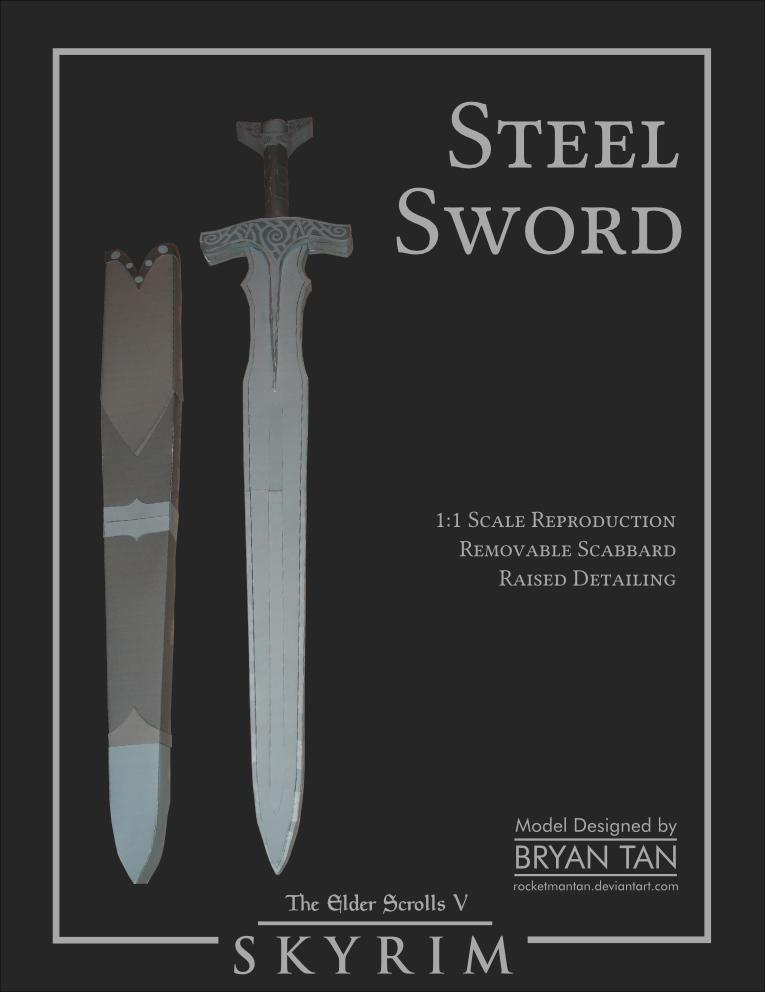 Skyrim Steel Sword Paper Model