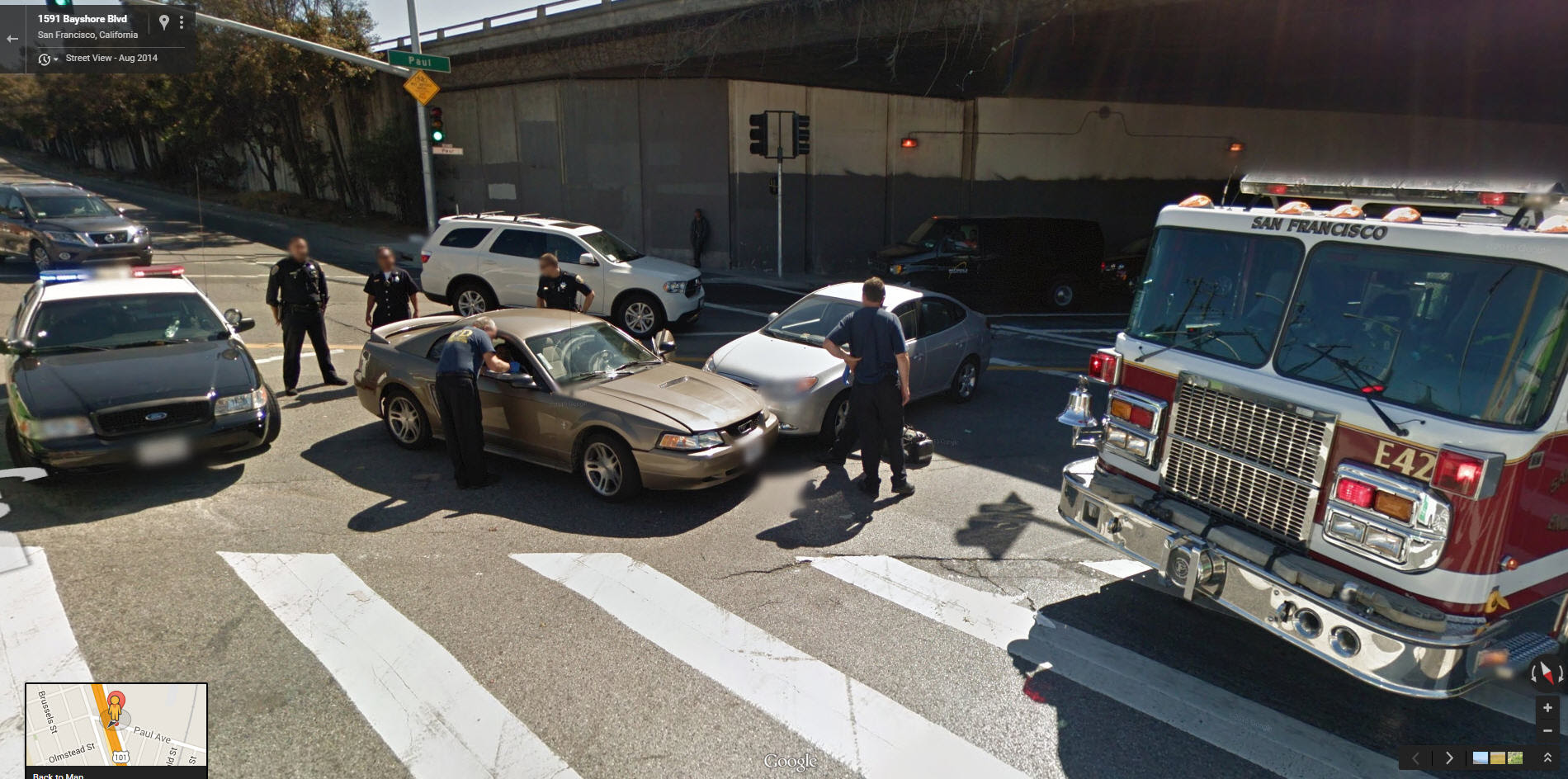 Another Fender Bender Google Street View World Funny