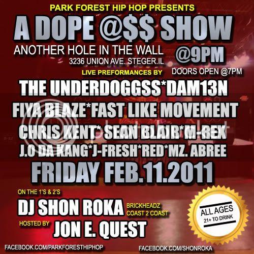 DJ Shon Roka,Jon E. Quest,The Underdoggss,Dam13n,Fiya Blaze,Fast Like Movement
