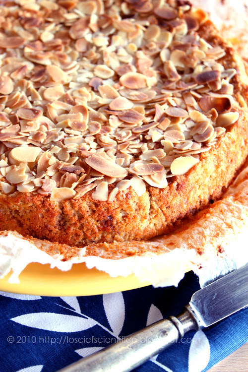 Peach, Almond & Amaretti Cake
