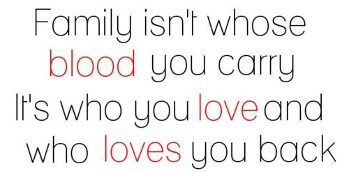 Family Isnt Whose Blood You Carry Its Who You Love And Who Loves