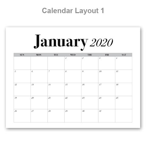 2020 Calendar Order