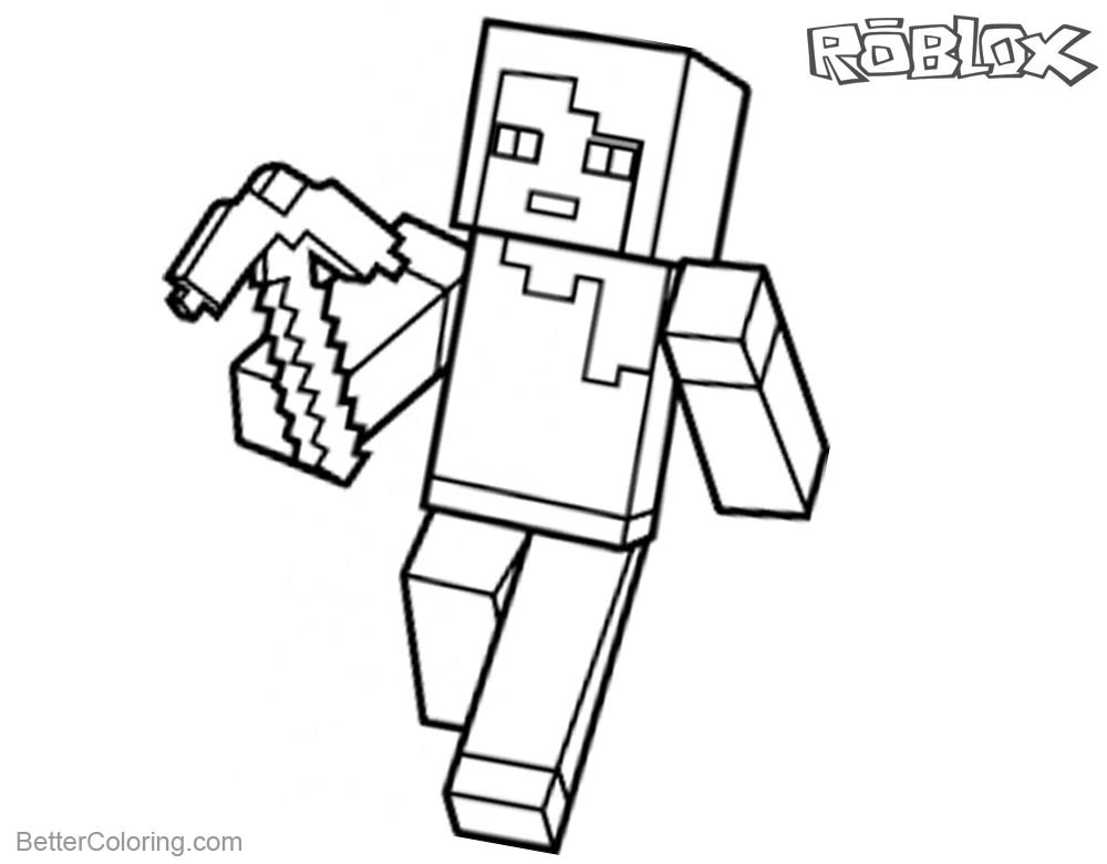 Roblox Minecraft Coloring Pages Lineart - Free Printable ...