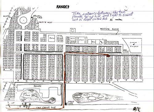 Map of Oak Grove Cemetery by midgefrazel